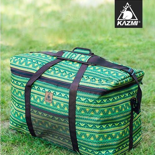 KAZMI 經典民族風裝備收納袋100L(綠色)