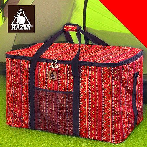 KAZMI 經典民族風裝備收納袋120L(紅色)