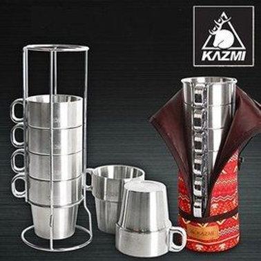 KAZMI 不鏽鋼雙層馬克杯6入組