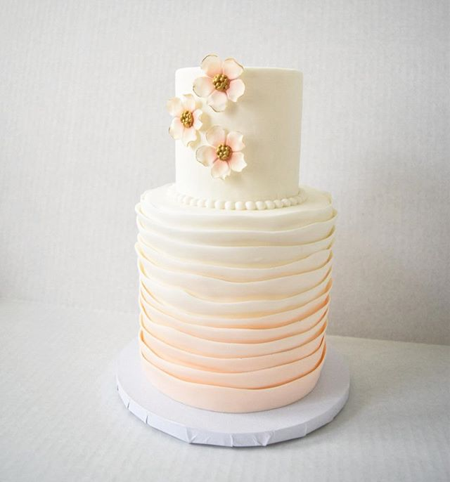 Here's a happy little ombré cake for you