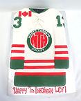custom cake shape cutout shirt hockey jersey