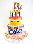 custom cake of shopkin theme cake tiered