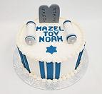 custom cake fondant Mazel tov barmitzvah