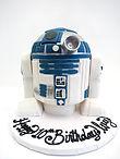 custom cake fondant r2d2 star wars