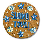 Custom Cookie Gram stars and swirls