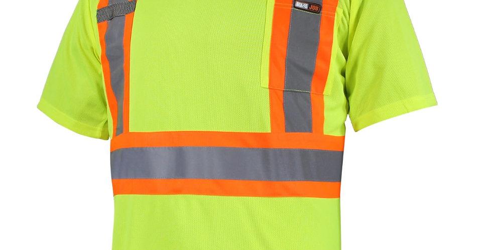 T-shirt jaune de sécurité manches courtes