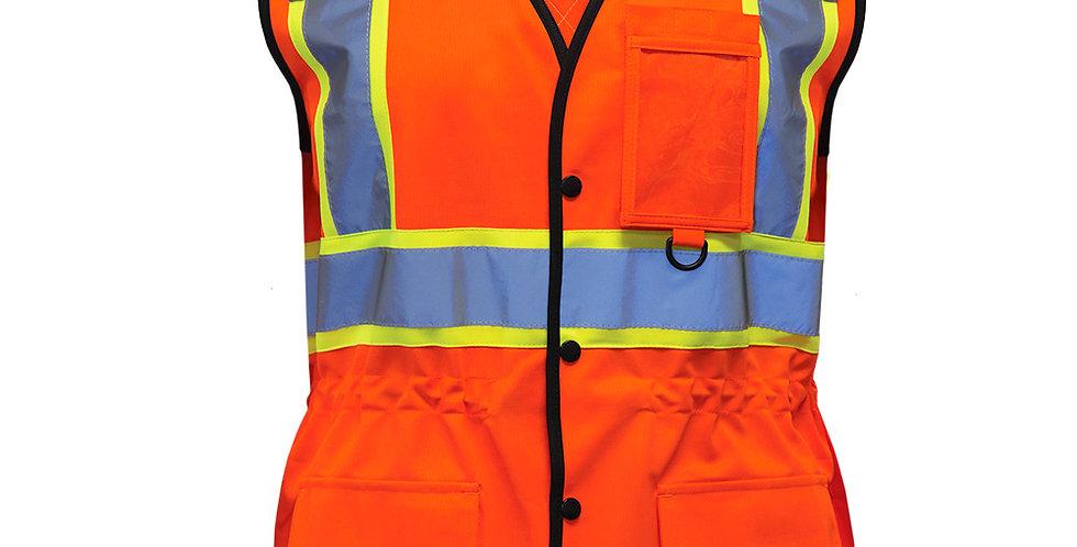 Veste de sécurité haute visibilité pilote et filles PF760 orange