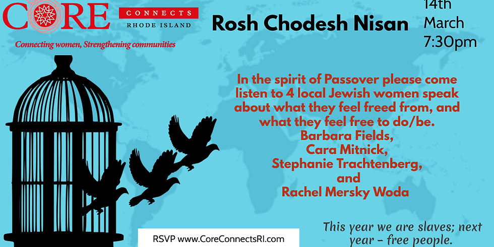 Core Connects RI Presents 4 Jewish Women Speaking about Freedom