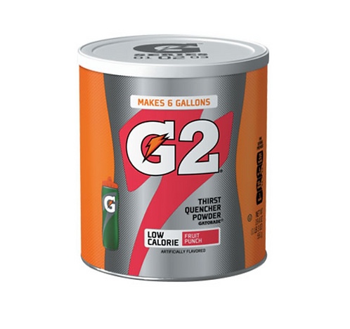 Gatorade Thirst Quencher Powder - G2 Fruit Punch - Makes 22.7 Litres