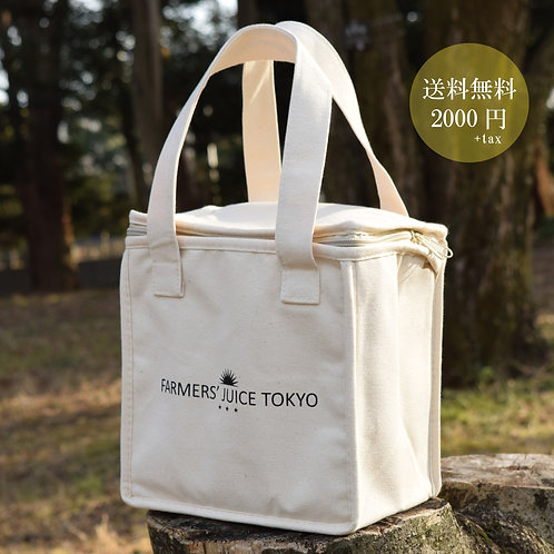FARMERS' JUICE TOKYO オリジナル 保温 保冷バッグ/クーラーバッグ/保冷エコバッグ送料無料