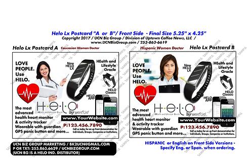 "Helo Lx Postcard ""A or B"" Digital Design (Pick 3) : 5.25"" x 4.25"""