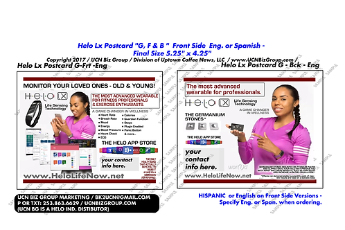 Helo Lx Postcard G: (2-Sided CMYK) Fitness Pro Digital Design