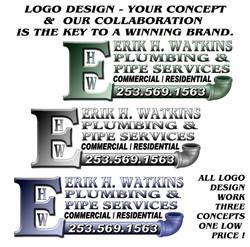 Watkins Plumbing Logo / Bonney Lake