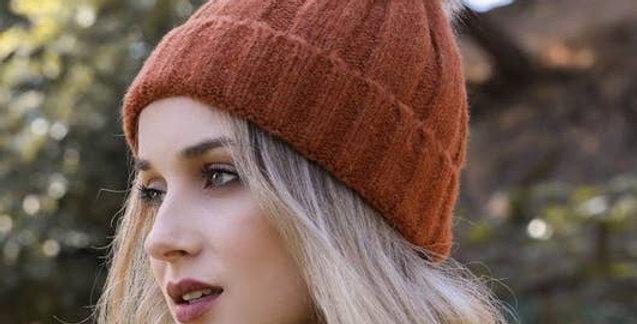 Soft Knit Faux Fur Pom Beanie