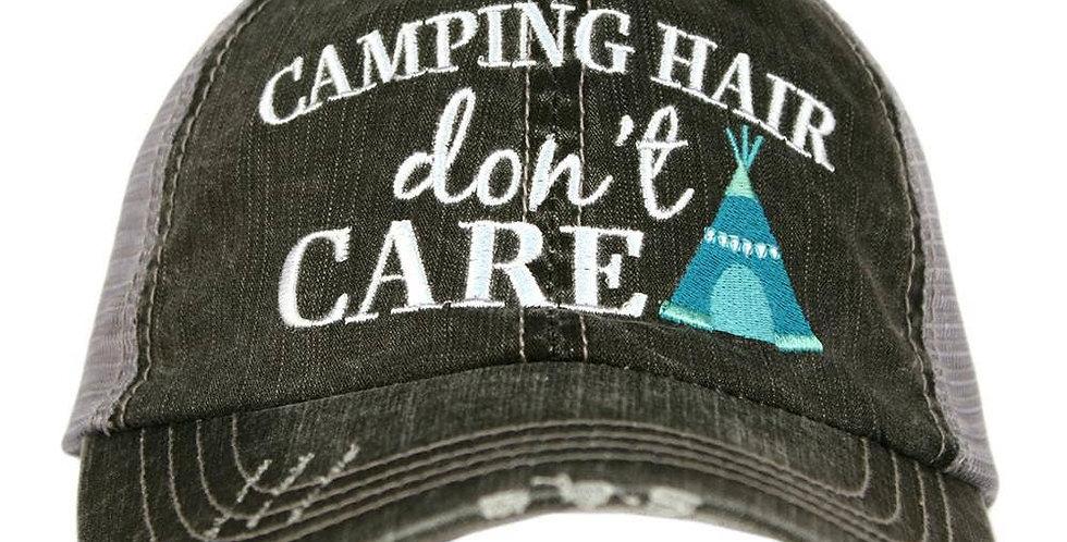 Camping Hair Trucker Hat