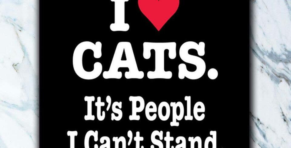 I Heart Cats Coaster
