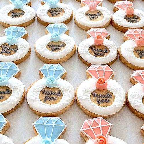 指輪のアイシングクッキー