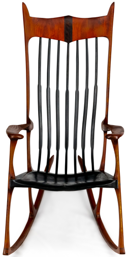 Gifted-Stained Oak with black Slats & Seat