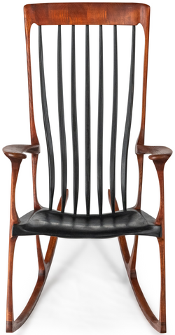 Gifted- Stained Oak with black Slats & Seat