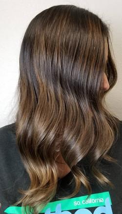 Brunette Balayage on Dark Brown Hair