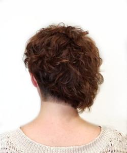 Asymmetric SHort Curly Haircut