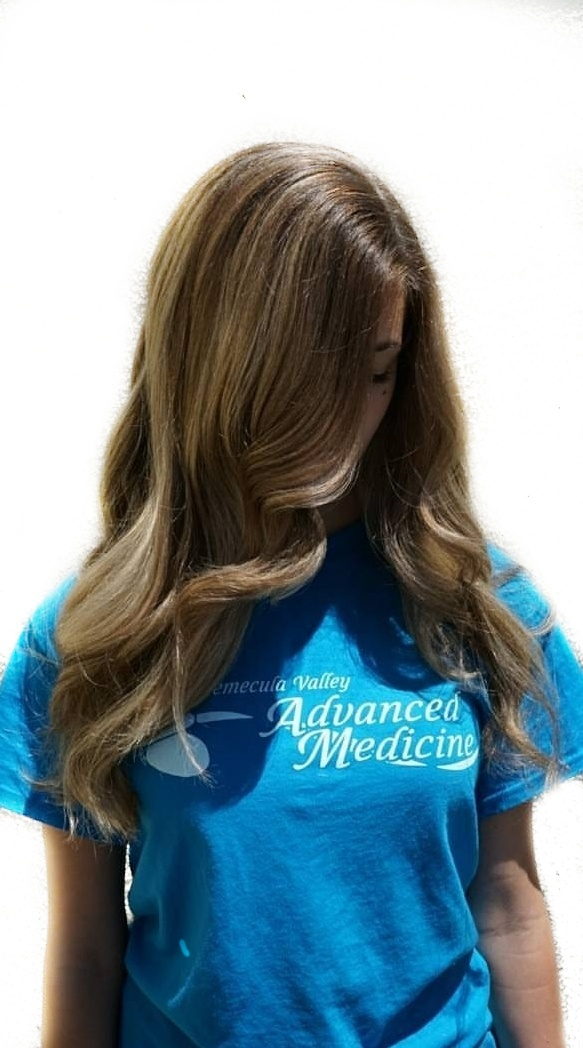 Balayage on dark blonde hair