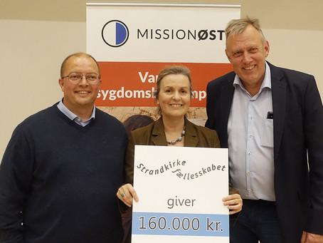 Kirke donerede 160.000 kr. til ngo