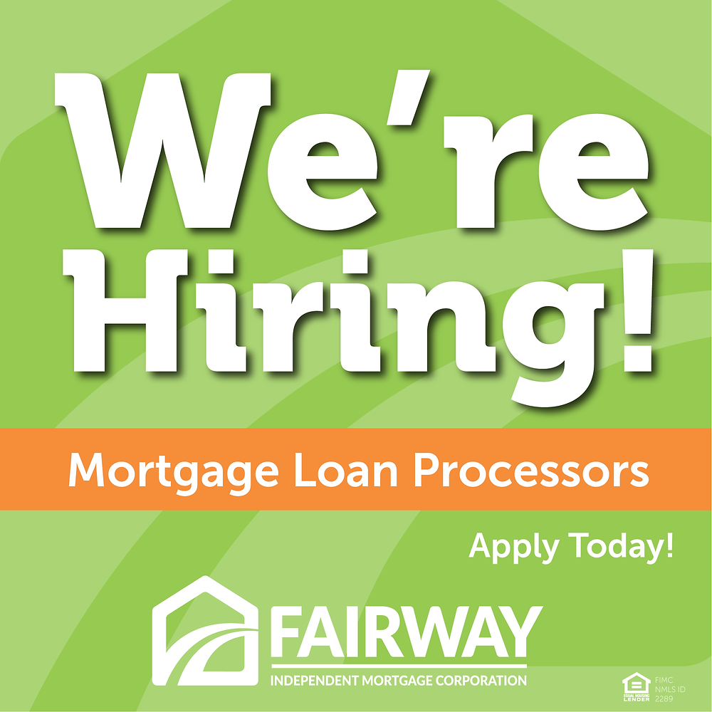 Arizona Mortgage Jobs | Loan Processors | Fairway Mortgage Arizona
