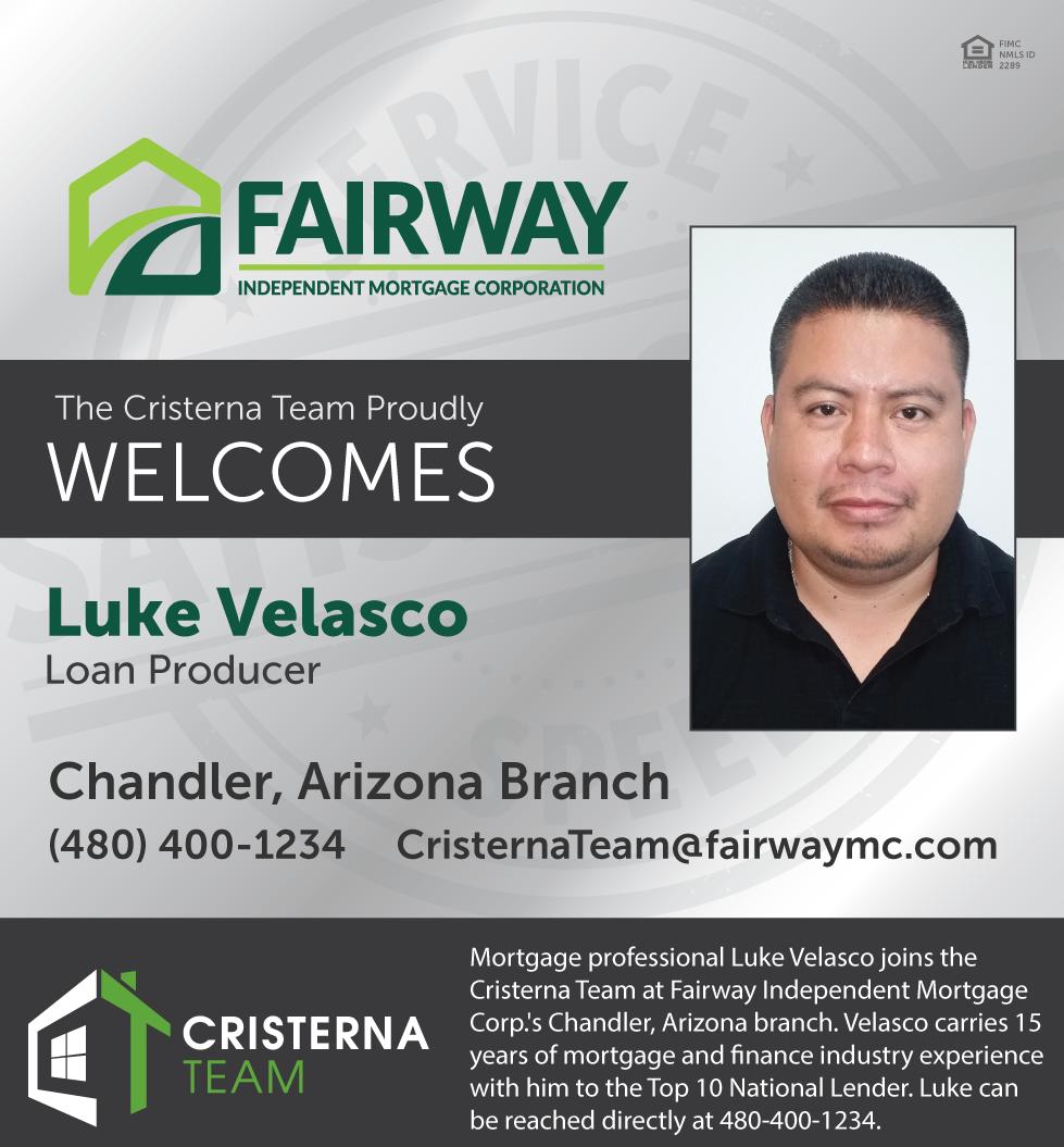 Fairway Mortgage Arizona | Cristerna Team | Luke Velasco
