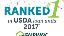 Fairway Independent Mortgage Corporation Ranks #1 in 2017 USDA Loan Volume