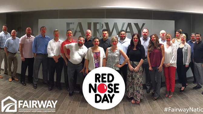 #RedNoseDay at Fairway Independent Mortgage Corp. in Chandler, Arizona.