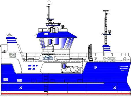 Fiskefartøy - nybygg med ny design.