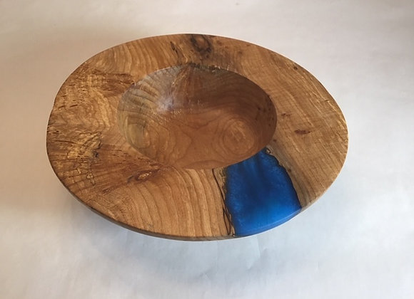 Spalted Maple burl bowl with resin