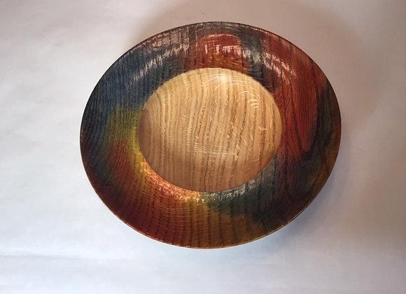 Wide hollowed rim Oak bowl