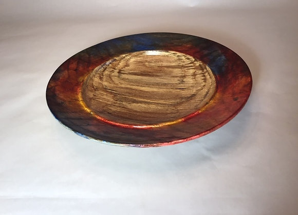 Spalted Oak wide rimmed platter