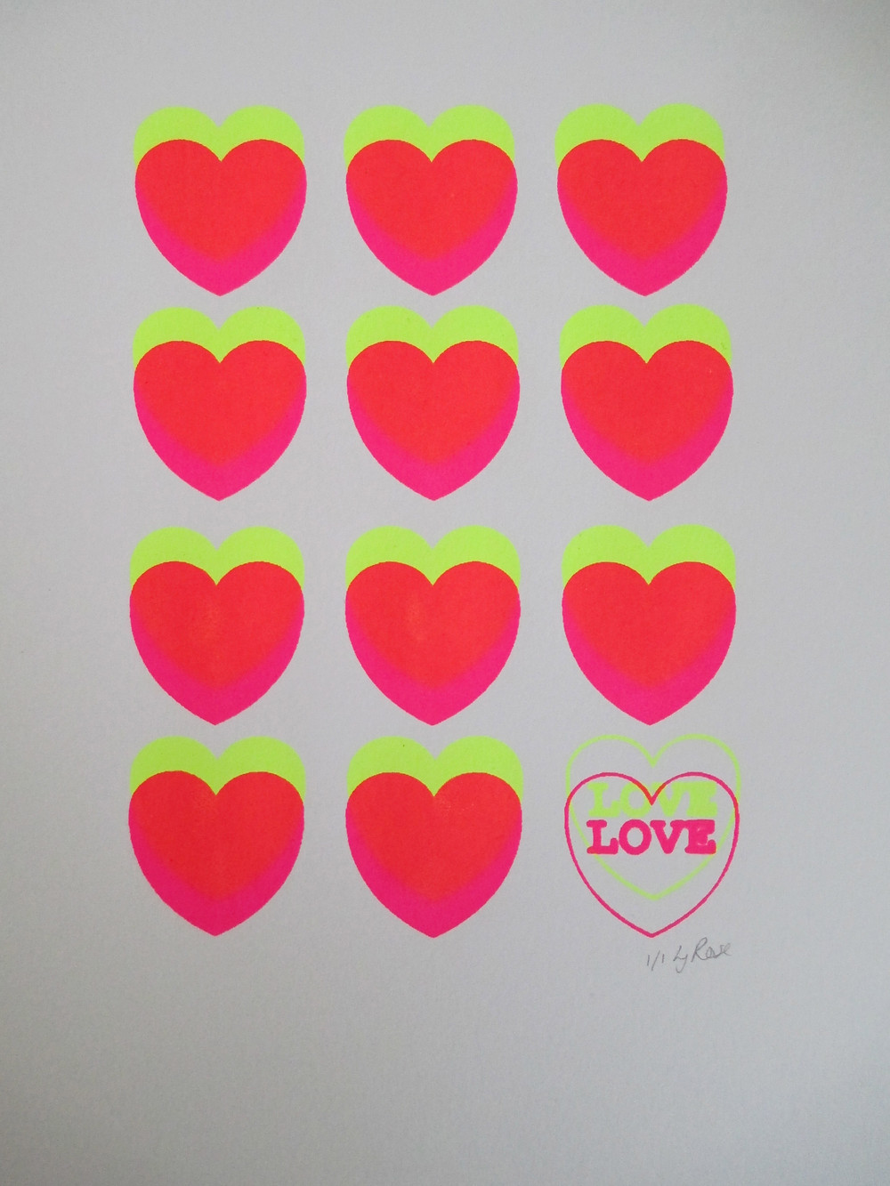 Love Hearts No 12. Availablnulle on my etsy shop.