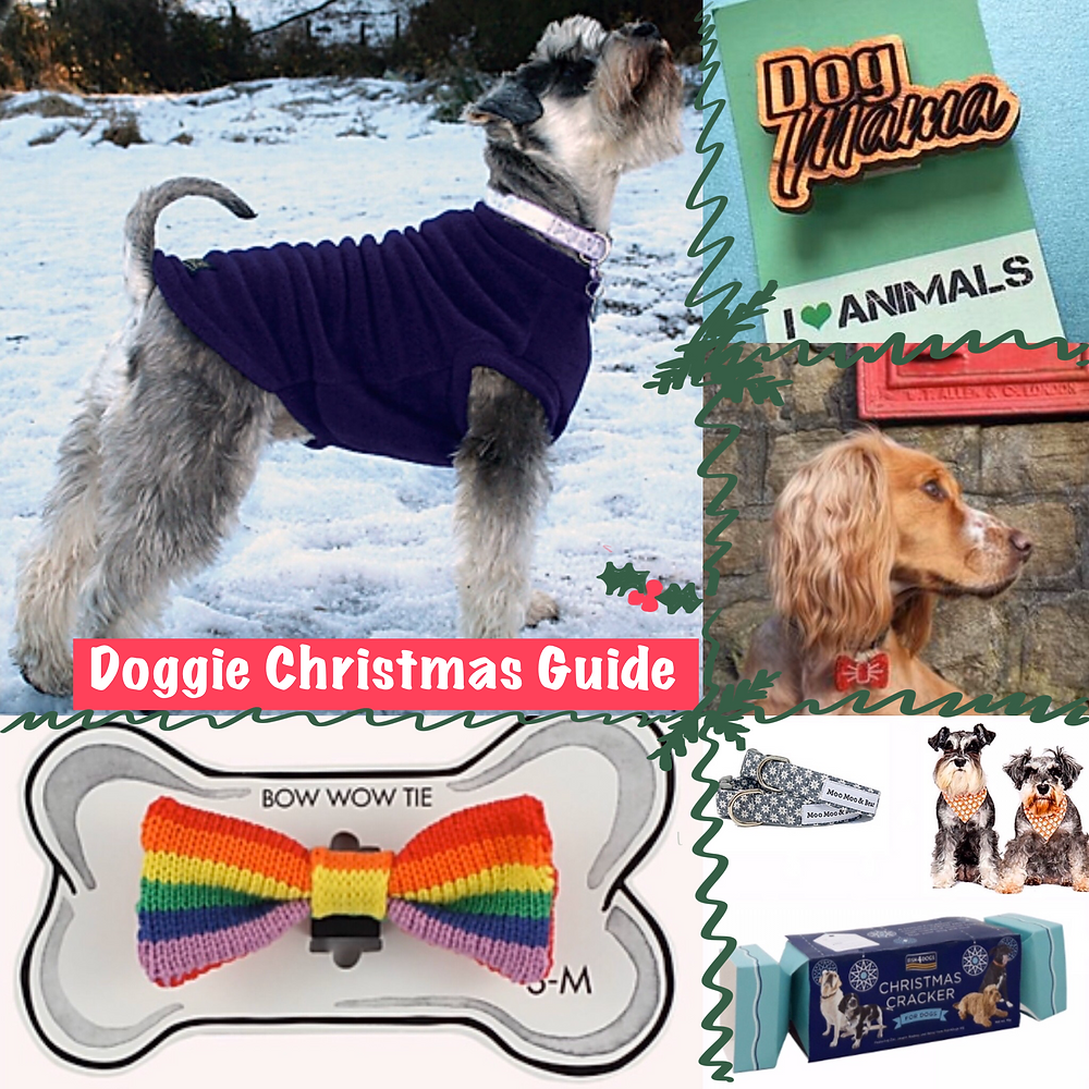 Doggie Christmas Guide with pictures of all the different images below