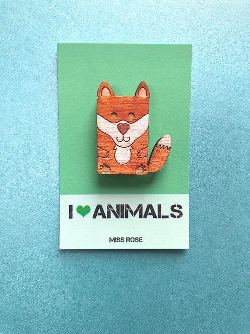 Florence the Fox Badge