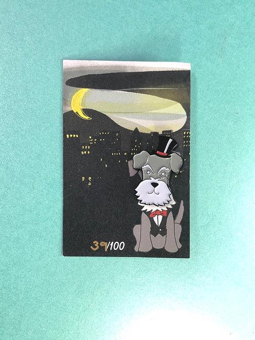 Dapper Dog Enamel Pin