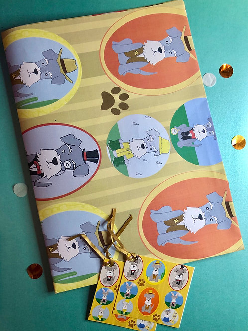 I 💙 Schnauzer wrapping paper