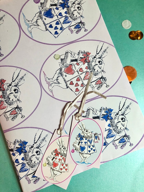 Wonderland wrapping paper