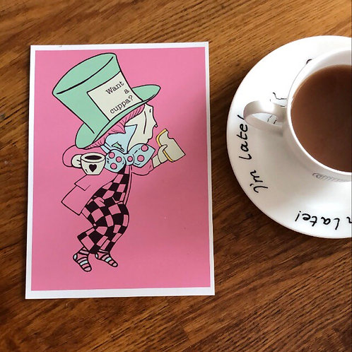 A5 Personalised Mad Hatter Art Print
