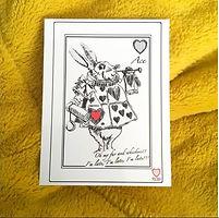 Pack of Wonderland Postcards - White Rabbit
