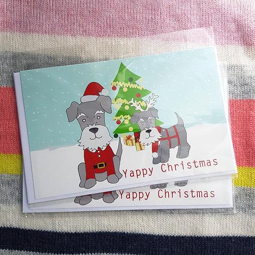 Yappy Christmas Greetings Card x 3