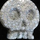 Glittery Resin Skull badge