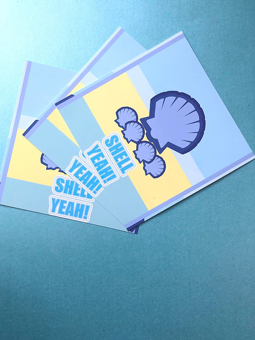 Shell Yeah! (Pack of 3 Postcards)
