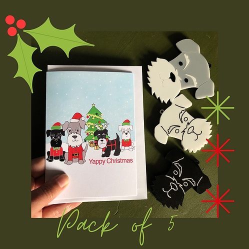 Christmas Schnauzer Cards (pack of 5)