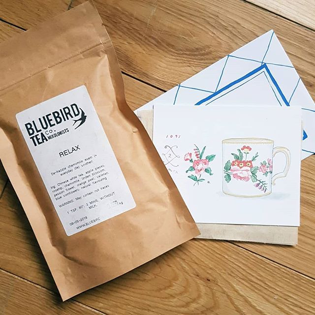 Bluebird tea co tea given as an act of kindness from @claireabellemakes