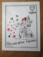 Pack of Wonderland Postcards - Queen - Off with their heads
