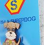Superdog Schnauzer Badge